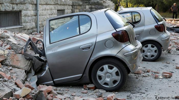 Наслідки землетрусу в Тирані