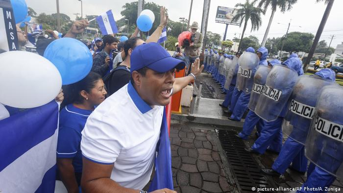 Nicaragua police quash opposition protest