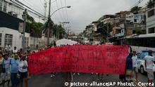 Brasilien Ermordung von Agatha Felix - Protest in Rio de Janeiro