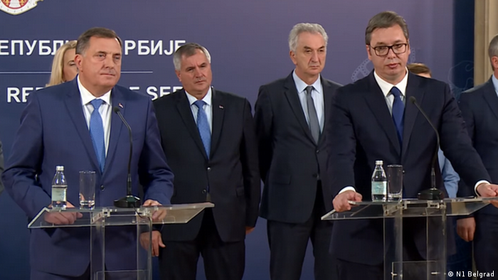 Serbien Belgrad   Milorad Dodik, Präsidium Bosnien & Herzegowina & Aleksandar Vucic, Präsident