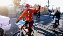 Iran Arak autofreier Tag mit Fahrrädern