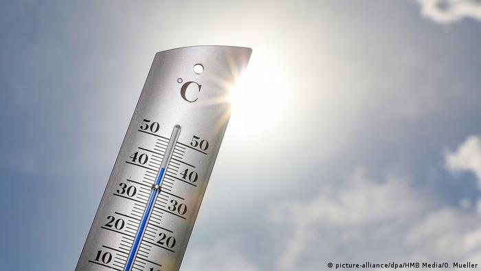A thermometer in the sun