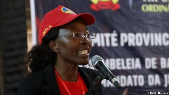 Hemingarda Fernandes, a nova secretária da JMPLA em Luanda
