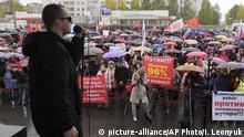 Russland Archangelsk Protest gegen Müllkippe