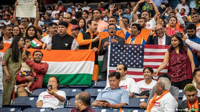 Indian-Americans at the Modi-Trump rally in Houston, Texas