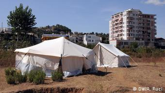 Albanien Tirana nach dem Erdbeben (DW/A. Ruci)