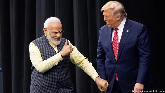 US President Donald Trump and Indian Prime Minister Narendra Modi attend Howdy, Modi! at NRG Stadium in Houston, Texas