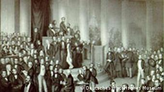 Lithograph of the National Assembly Photo: German History Museum