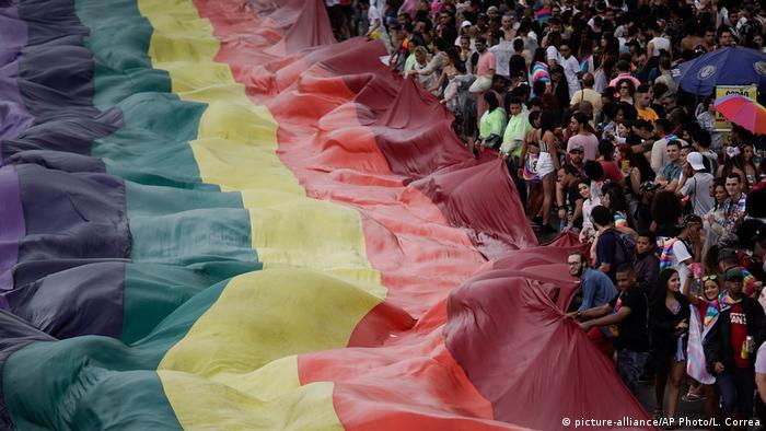 Brasilien Gay Parade in Río de Janeiro (picture-alliance/AP Photo/L. Correa)