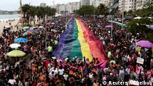 Revellers take part in the Gay Pride Parade at Copacabana beach in Rio de Janeiro, Brazil, September 22, 2019. REUTERS/Ian Cheibub