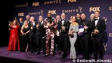 71st Primetime Emmy Awards - Photo Room – Los Angeles, California, U.S., September 22, 2019 - The cast of RuPaul's Drag Race pose backstage with their award for Outstanding Competition Program. REUTERS/Monica Almeida
