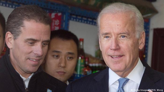 Joe Biden and his son Hunter in a shop in Beijing