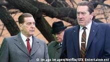 THE IRISHMAN 2019 de Martin Scorsese Al Pacino Robert De Niro. historique; biopic; biographie; biography; Jimmy Hoffa Netflix - Fabrica de Cine - STX Entertainment - Sikelia Productions - Tribeca Productions PUBLICATIONxINxGERxSUIxAUTxONLY IRISHMAN (2019) 10 NUR REDAKTIONELLE NUTZUNG & REDAKTIONELLE BUCHCOVER NUR IM KONTEXT DER FILMBERICHTERSTATTUNG!
