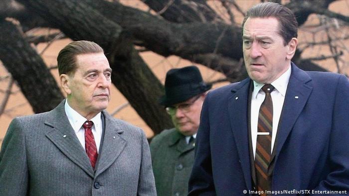 Al Pacino y Robert De Niro en El irlandés: el director, Martin Scorsese, nominado al Óscar.