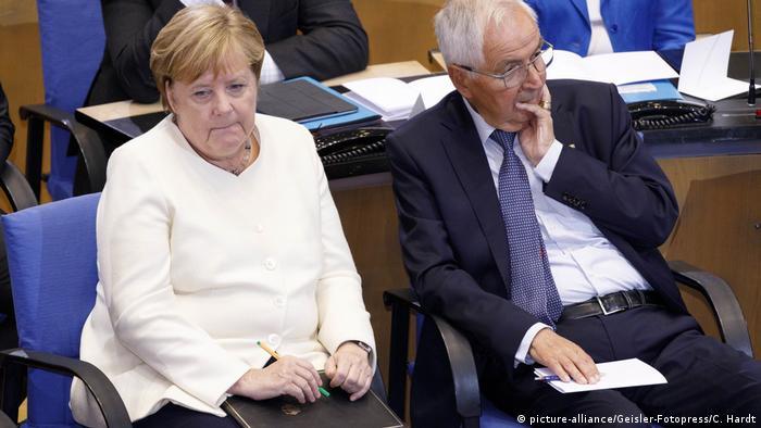 Deutschland NRW Staatspreis 2019 in Bonn Angela Merkel und Klaus Töpfer