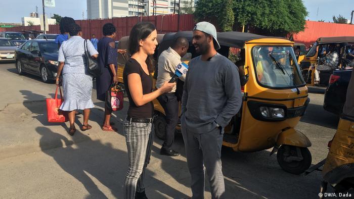 Yemeni national Mohammed Al-Salafi in Lagos, Nigeria, speaking to DW's Fanny Facsar.
