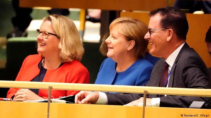 La canciller alemana, Angela Merkel, en la cumbre de la ONU en Nueva York (23.09.2019).
