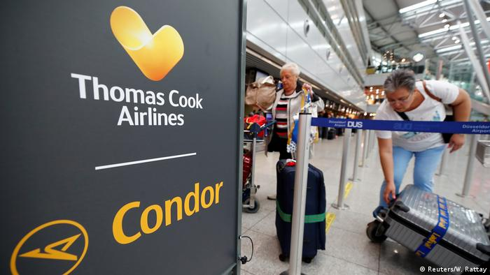 Thomas Cook Logo at Dusseldorf airport
