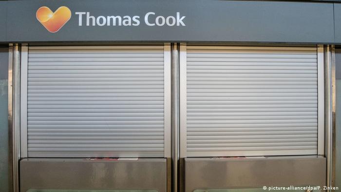 Закрытое информационное бюро компании Thomas Cook в берлинском аэропорту Tegel
