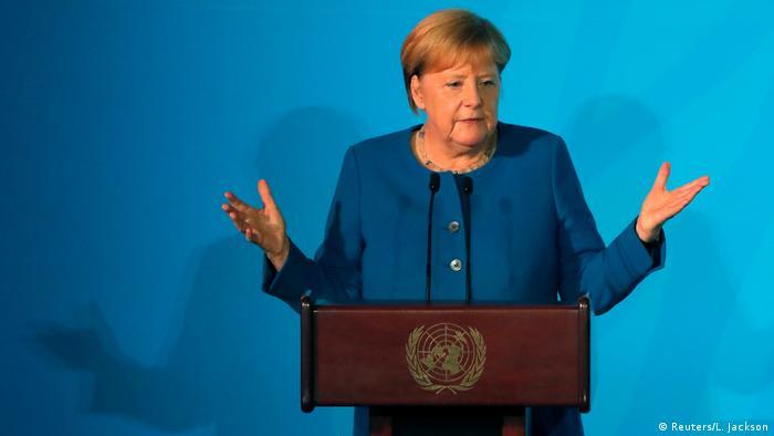 UN-Klimagipfel New York | Angela Merkel, Bundeskanzlerin (Reuters/L. Jackson)
