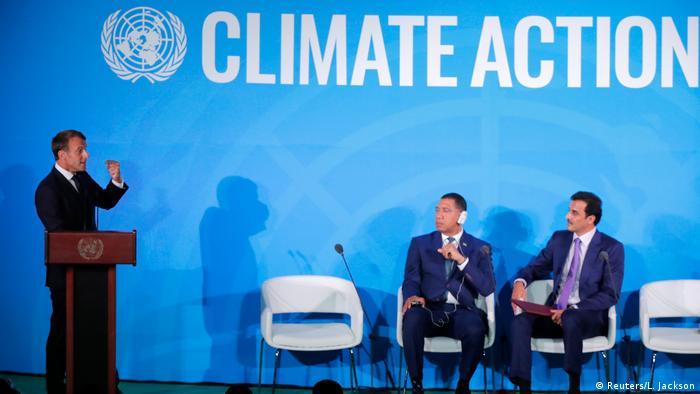 Emmanuel Macron spricht auf dem UN-Klimagipfel in New York