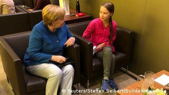 UN-Klimagipfel New York | Angela Merkel & Greta Thunberg