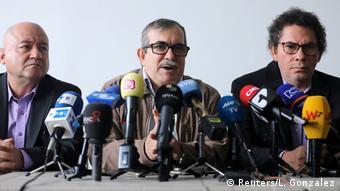 Kolumbien Bogota | FARC-Anhörung Friedenstribunal | Rodrigo Londono alias Timochenko