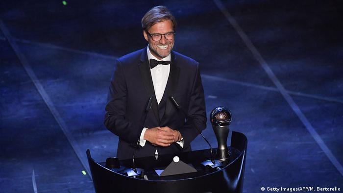 Fußball FIFA Weltfußballer-Wahl | Trainer des Jahres Jürgen Klopp (Getty Images/AFP/M. Bertorello)