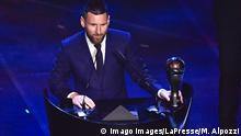 Fußball FIFA Weltfußballer-Wahl | Lionel Messi | Weltfußballer 2019