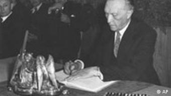 Unterzeichnung Grundgesetz 1949