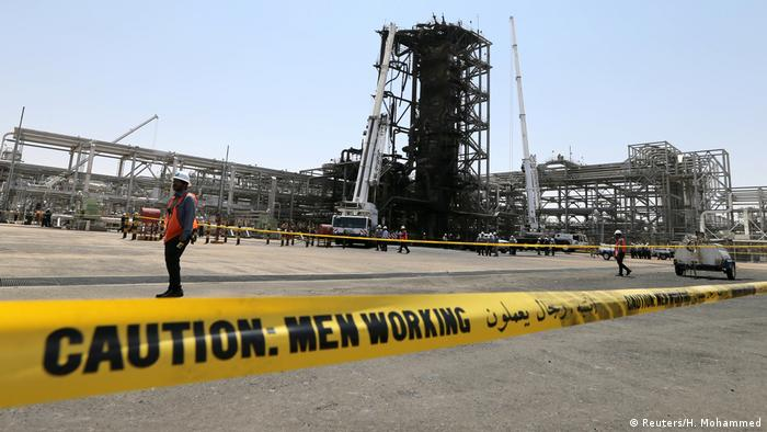 The Khurais oil facility a few days after being attacked by drones on September 14