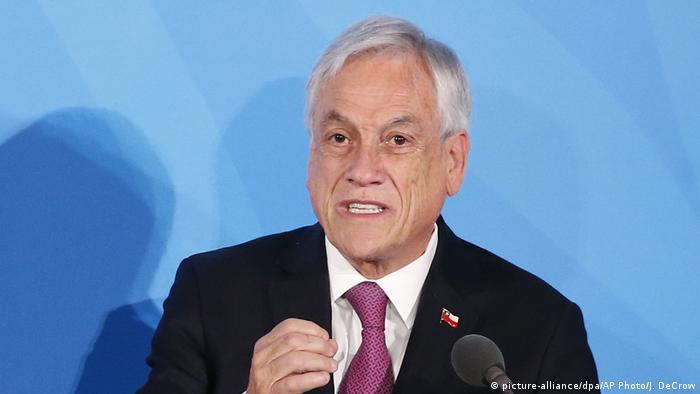 USA | Präsident Sebastian Pinera | UN New York (picture-alliance/dpa/AP Photo/J. DeCrow)