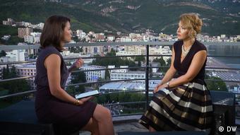 Во время интервью с Жанной Немцовой