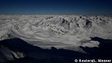 A view down at snowcapped mountains of Kaunertal valley near Feichten im Kaunertal, Austria, March 21, 2019. REUTERS/Lisi Niesner SEARCH AUSTRIA GLACIERS FOR THIS STORY. SEARCH WIDER IMAGE FOR ALL STORIES.