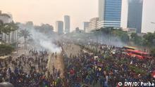 Indonesien Studenten Demonstration Jakarta