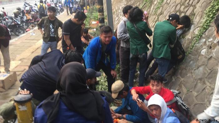 Indonesien Studenten Demonstration Jakarta (DW/D. Purba)
