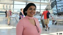 Description: Fathiya Omar, DW correspondent im Mombasa, while on a training trip in Berlin, Germany.
