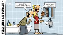 DW Euromaxx Comics von Fernandez | Verstehen Sie Deutsch? | Neuwagenduft