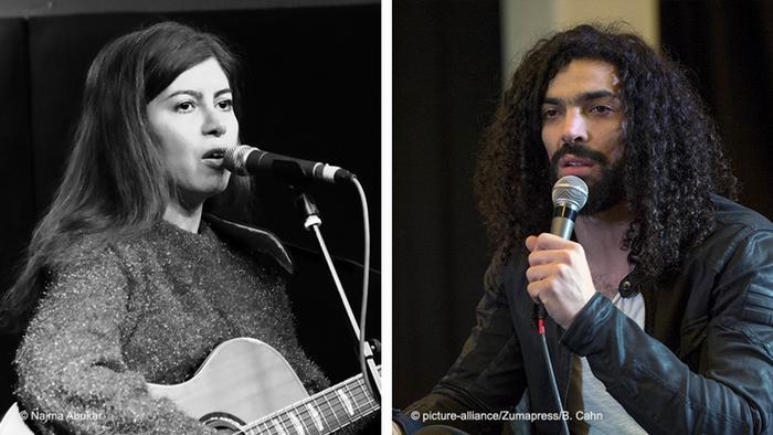 Bildkombo Farzane Zamen und Ramy Essam