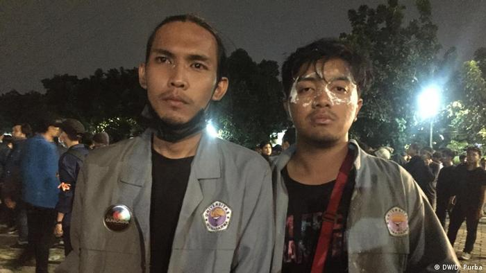 Indonesien Studentenproteste in Jakarta (DW/D. Purba)