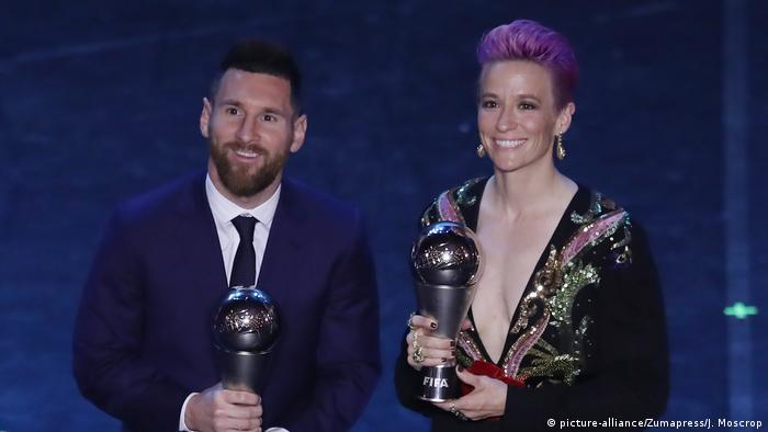 Lionel Messi da Megan Rapinoe su suka ci kyauta mafi girma ta FIFA Best a 2019