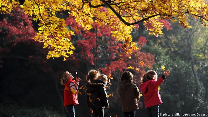 Deutschland Herbststimmung in Bad Homburg