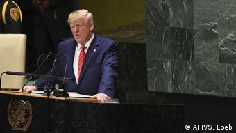 El presidente estadounidense, Donald Trump, en la Asamblea General de la ONU en Nueva York.