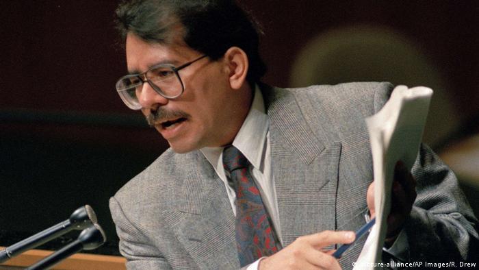 UN Generalversammlung 1987 Daniel Ortega (picture-alliance/AP Images/R. Drew)