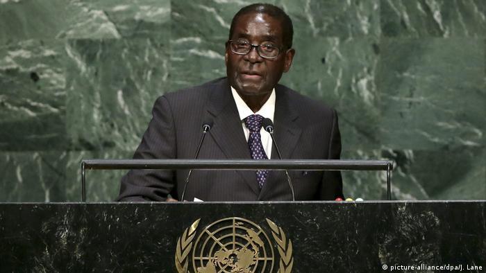 UN Generalversammlung 2015 Robert Mugabe (picture-alliance/dpa/J. Lane)