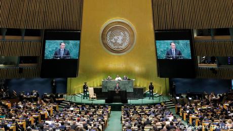 UN-Generalversammlung in New York   Jair Bolsonaro, Präsident Brasilien (Reuters/L. Jackson)