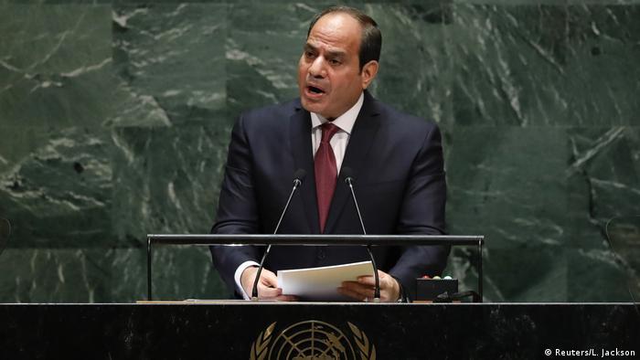 El presidente de Egipto, Abdelfatah al Sisi, en la Asamblea General de la ONU.