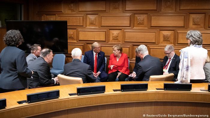 UN-Generalversammlung in New York | Angela Merkel & Donald Trump (Reuters/Guido Bergmann/Bundesregierung)