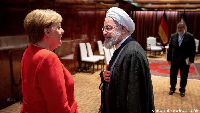 UN: Merkel and Hassan Rouhani
