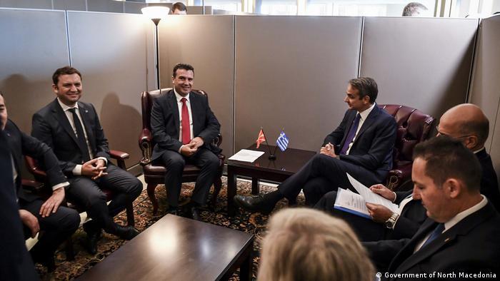 UN-Generalversammlung in New York   Zoran Zaev & Kiriakos Mitsotakis, Nord-Mazedonien & Griechenland